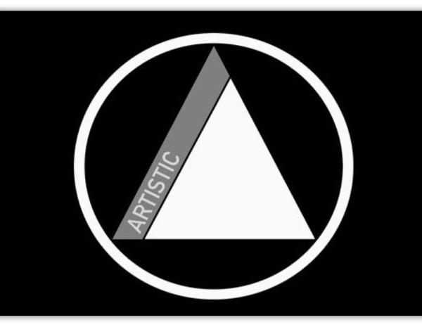 artistic logo bw